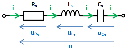RLC série, schéma