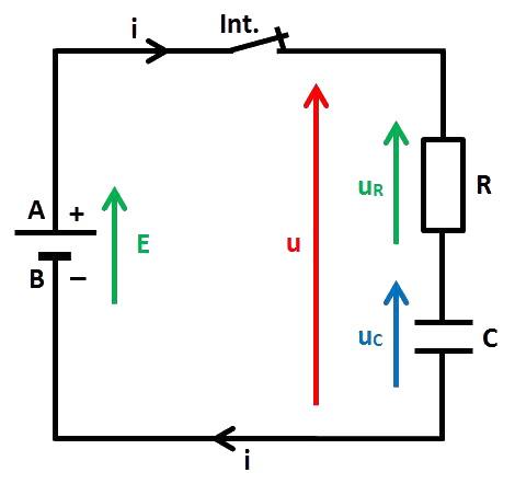 schéma charge de C via R