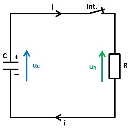 schéma décharge de C via R