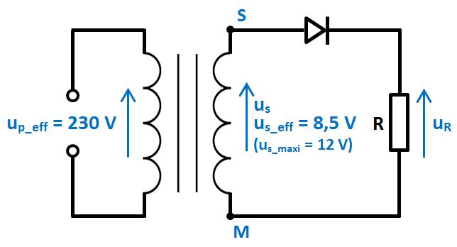 schéma redressement 1 diode